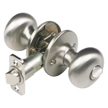 Design House 754713 Pro Cambridge Bed and Bath Door Knob, Satin Nickel