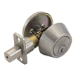 Design House 754895 Pro Single Cylinder Deadbolt, Satin Nickel