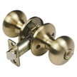 Design House Pro Cambridge Bed and Bath Door Knob 6-Way Universal, Antique Brass - 755231