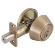 Design House Single Cylinder 2-Way Latch Deadbolt, Adjustable Backset - 755306