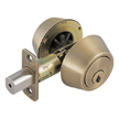 Design House Double Cylinder 2-Way Latch Deadbolt, Adjustable Backset - 755314