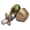 Design House Single Cylinder 2-Way Latch Deadbolt, Adjustable Backset - 755322