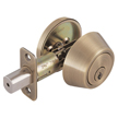 Design House 755348 Pro Single Cylinder Deadbolt, Antique Brass