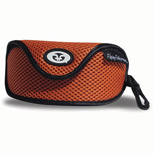 Flying Fisherman 7603 Sunglass Case W Clip, Orange Mesh