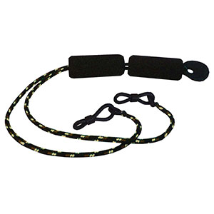 Flying Fisherman 7620B Floating Sunglasses Retainer With Grip Loops, Black
