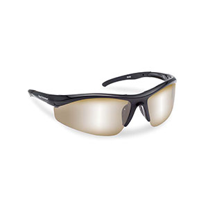 Flying Fisherman 7704BA Spector Polarized Sunglasses, Black Frames With Amber-Silver Mirror Lenses