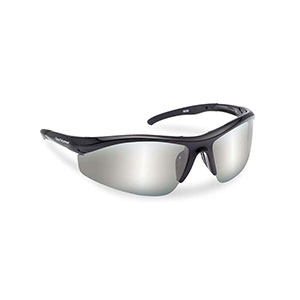 Flying Fisherman 7704BS Spector Polarized Sunglasses, Black Frames With Smoke-Silver Mirror Lenses