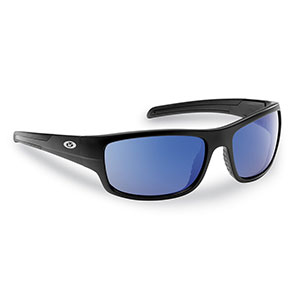Flying Fisherman 7709BSB Shoal Sunglasses, Matte Black Smoke-Blue Mirror