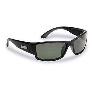 Flying Fisherman 7717BS Razor Polarized Sunglassed, Matte Black Frames, Smoke Lenses