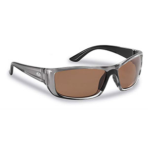 Flying Fisherman 7719GC Buchanan Polarized Sunglasses, Crystal Gunmetal / Copper