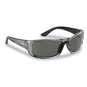 Flying Fisherman 7719GS Buchanan Polarized Sunglasses, Crystal Gunmetal / Smoke