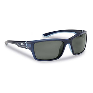 Flying Fisherman 7721NS Cove Polarized Sunglasses, Matte Crystal Navy Frames With Smoke Lenses