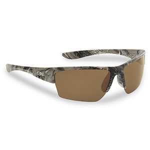 Flying Fisherman 7724CA Glades Polarized Sunglasses, Camo Frame, Amber Lens