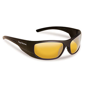 Flying Fisherman 7738NBY Cape Horn Polarized Sunglasses, Black / Yellow-Amber