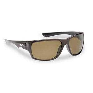 Flying Fisherman 7760CA Roller Polarized Sunglasses, Crystal Brown Frame, Amber Lens