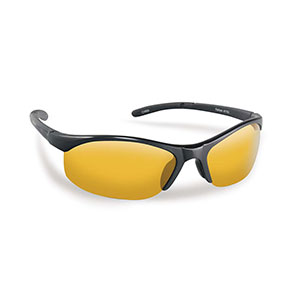 Flying Fisherman 7793BY Bristol Polarized Sunglasses, Black Frames With Yellow-Amber Lenses