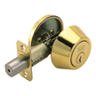 Design House Pro Single Cylinder Deadbolt 2-Way Adjustable Lockset, Polished Brass - 780999
