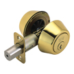 Design House 781005 Pro Double Cylinder Deadbolt, Polished Brass
