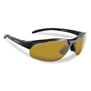 Flying Fisherman 7812BY Maverick Polarized Sunglasses, Black / Yellow-Amber
