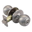 Design House 781880 Ball 2-Way Latch Entry Door Knob, Adjustable Backset