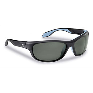 Flying Fisherman 7824BS Cayo Polarized Sunglasses, Matte Black Frames With Smoke Lenses