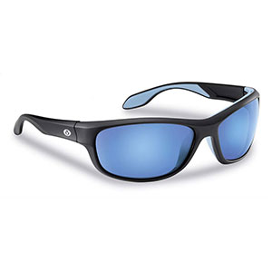 Flying Fisherman 7824BSB Cayo Polarized Sunglasses Matte Black / Smoke-Blue