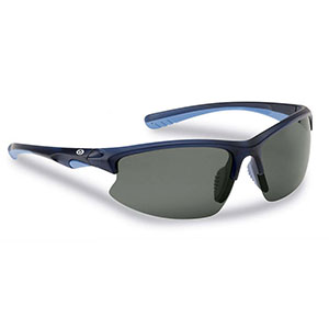 Flying Fisherman 7828NS Drift Polarized Sunglasses, Matte Crystal Navy / Smoke