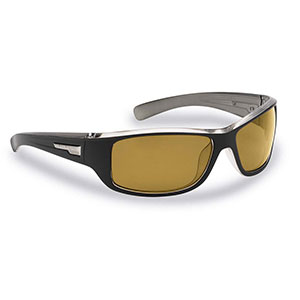 Flying Fisherman 7831BY Helm Polarized Sunglasses, Matte Black-Gunmetal Frames, Yellow-Amber Lenses