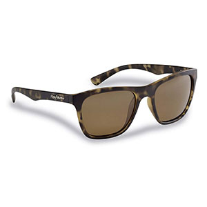 Flying Fisherman 7837TA Fowey Polarized Sunglasses, Tortoise Frames With Amber Lenses