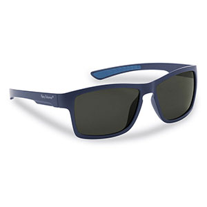 Flying Fisherman 7863NS Tiki Sunglasses, Matte Navy Smoke