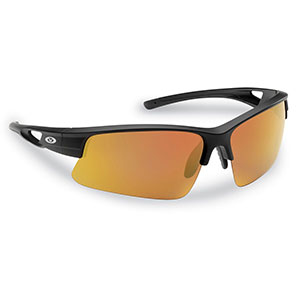 Flying Fisherman 7871BAR Moray Sunglasses, Matte Black Frames With Copper-Red Mirror Lenses