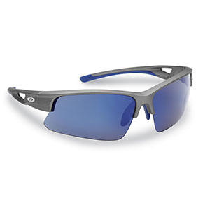 Flying Fisherman 7871GSB Moray Sunglasses, Matte Gray Smoke-Blue Mirror