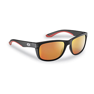 Flying Fisherman 7873BAR Double Header Sunglasses, Black Frames With Amber-Red Mirror Lenses