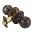 Design House Ball 2-Way Latch Passage Door Knob, Adjustable Backset - 791582
