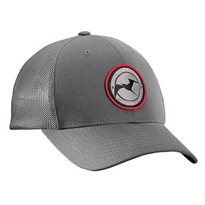 Flying Fisherman H1716-S/M Early Bird Fitted Trucker Hat Charcoal S/M