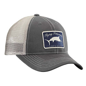 Flying Fisherman H1720 Marlin Trucker Hat Graphite/Stone