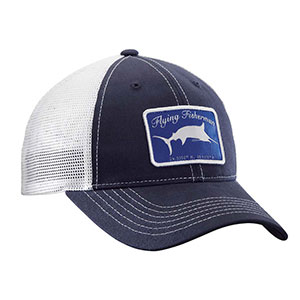 Flying Fisherman H1721 Marlin Trucker Hat Navy/White