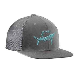 Flying Fisherman H1726-L/XL Sailfish Fitted Trucker Hat Dk. Graphite L/XL