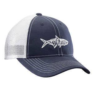 Flying Fisherman H1735 Tarpon Trucker Hat Navy/White