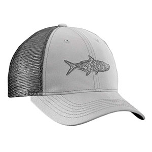 Flying Fisherman H1736 Tarpon Trucker Hat Gray/Charcoal