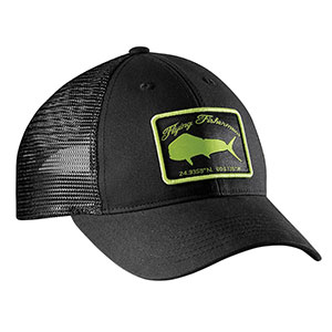 Flying Fisherman H1765 Mahi Trucker Hat Black/Lime