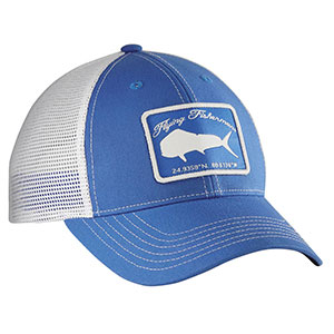 Flying Fisherman H1766 Mahi Trucker Hat Blue/White