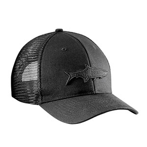 Flying Fisherman H1783 Tarpon Shadow Trucker Hat, Black