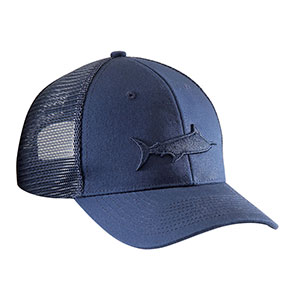 Flying Fisherman H1785 Marlin Shadow Trucker Hat, Navy