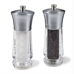 Cole & Mason Exford Nickel Salt & Pepper Mill Gift Set - H321913U