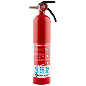 First Alert HOME1 Rechargeable Home Fire Extinguisher UL Rated 1-A, 10-B:C