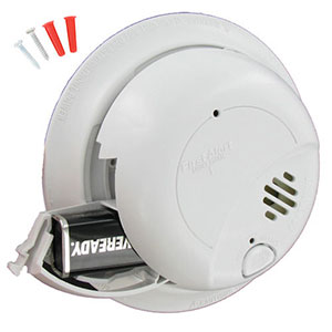 First Alert SA9120BCN 120VAC Hardwired Smoke Alarm with Battery Backup (1039816)