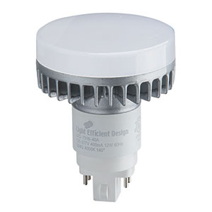 Light Efficient Design LED-7318-35A 12W G24Q Four Pin-Base CFL Retrofit, 3500K