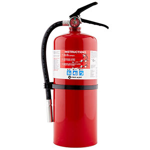 First Alert PRO10 Rechargeable Commercial Fire Extinguisher UL 4-A:60-B:C