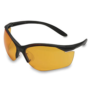 Honeywell Vapor II Shooter's Safety Eyewear, Black frame, Orange Lens, Anti-Fog Lens Coating - R-01537